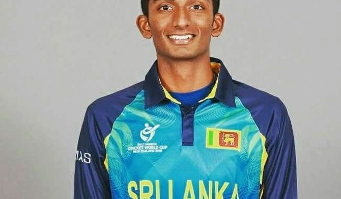 How did Santhush land in World Cup squad?