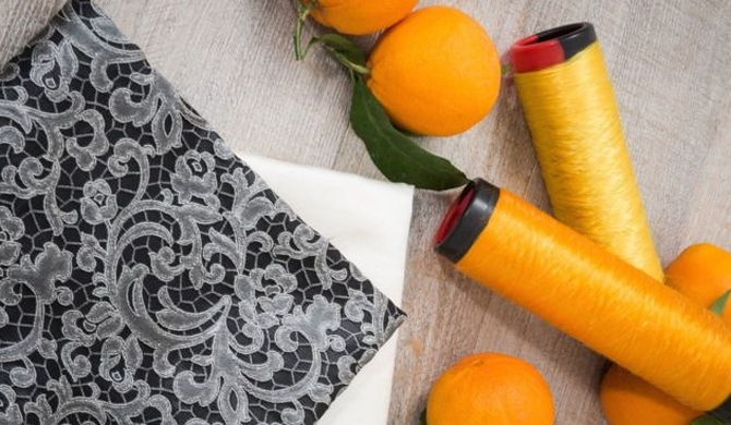 The fibre made from the oranges can be blended with other yarns to make clothing