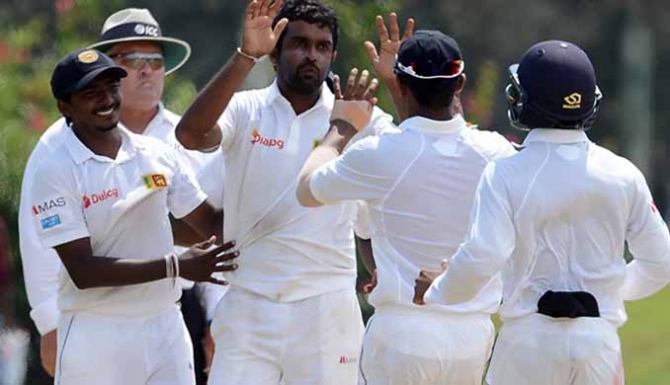 Sri Lanka in control after setting 457 target
