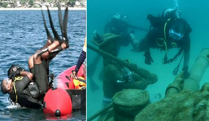 2nd underwater museum opened in Trinco (Pics)