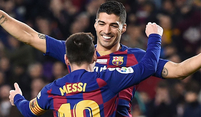 Suarez proud of Messi partnership as he leaves Barcelona for Atletico Madrid