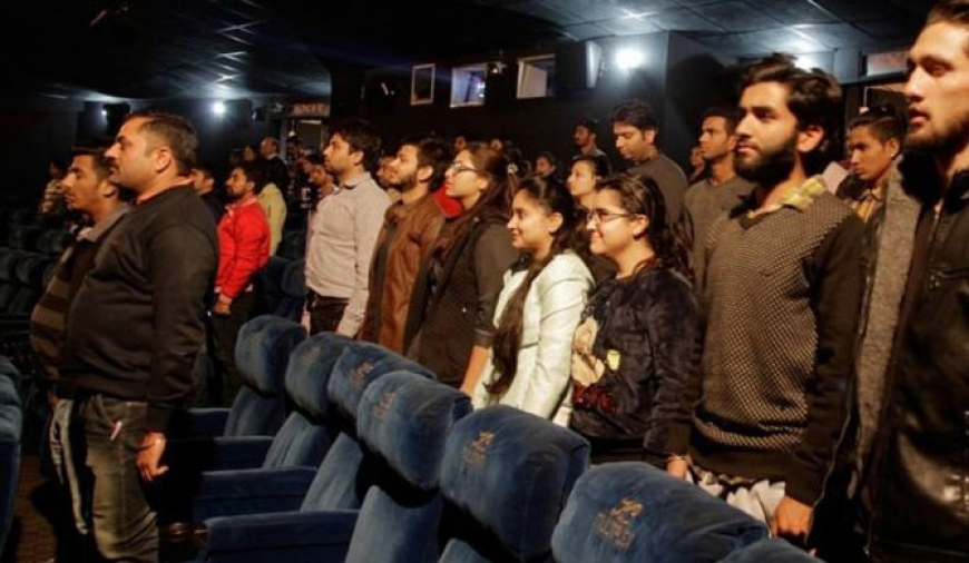 Cinemagoers arrested for sitting during national anthem