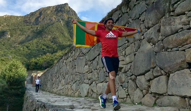 Hassan Esufally, the first Sri Lankan to complete the hardest marathon in the world