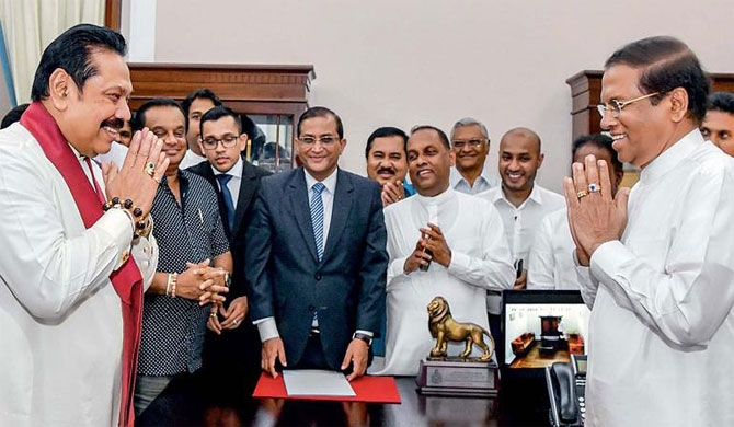 President Maithripala Sirisena stunned the island nation by sacking his PM, suspending parliament and bringing back a pro-China leader, Mahinda Rajapaksa. sri lanka is in political turmoil.