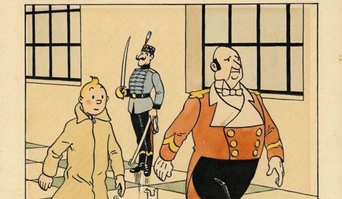 Rare Tintin art fetches $500,000