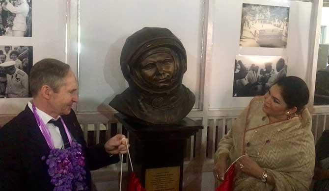 Bust of Yuri Gagarin unveiled in Colombo (Video / Pics)