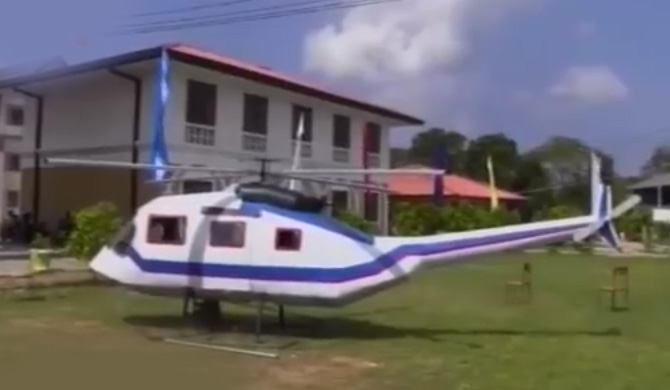 Student builds helicopter! (video)