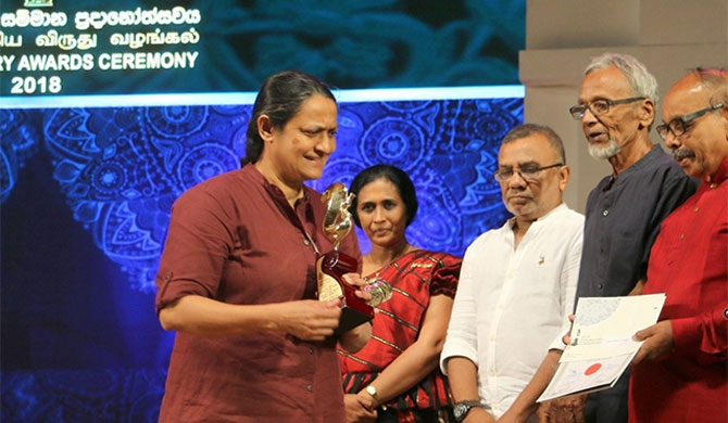 Female author slams Sri Lanka rights record at state awards festival
