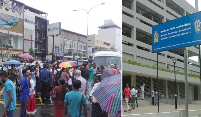 Tense situation in front of the Immigration dept. (Pics)