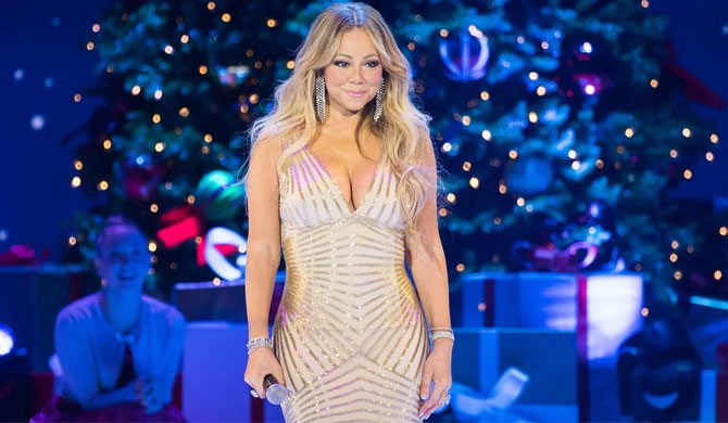 Mariah Carey at the O2 Arena, London, in December 2017. Photograph: Samir Hussein/WireImage