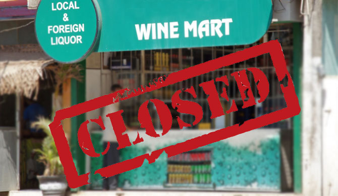 Wine stores to remain closed until further notice