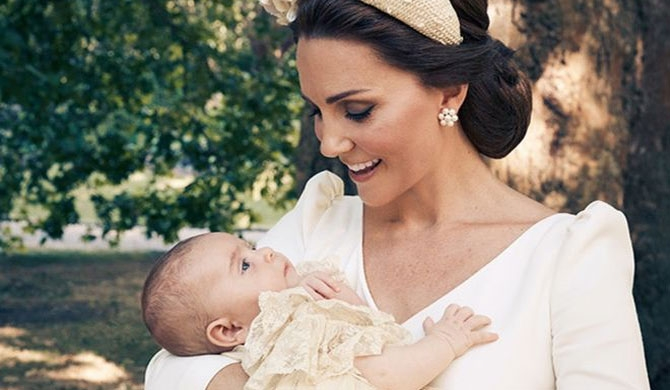 Prince Louis' christening photos released (Pics)