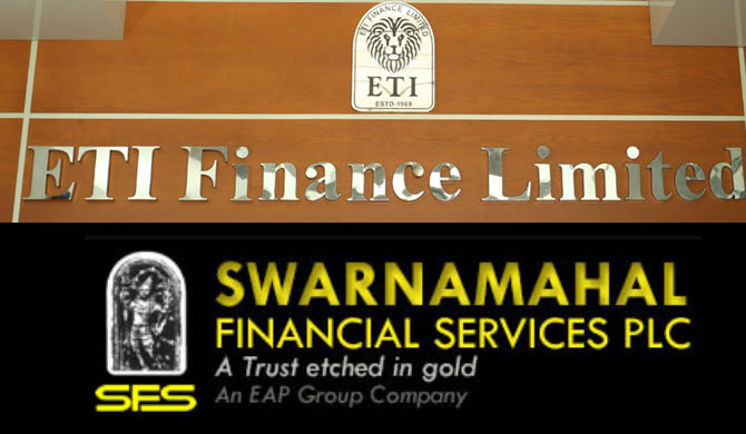 Business activities of ETI Finance & Swarnamahal Financial Services suspended