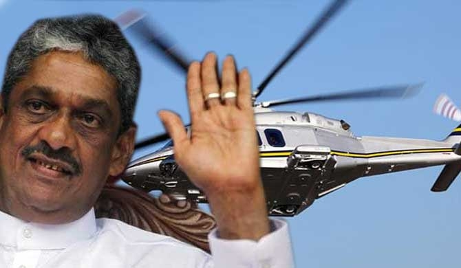 State employees at risk because of Mahinda's helicopter