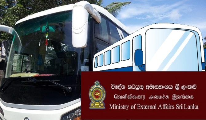2 Rs. 50 m buses idling at Foreign Ministry car park!