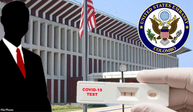 US embassy official refuses PCR test at BIA ; allowed to enter SL