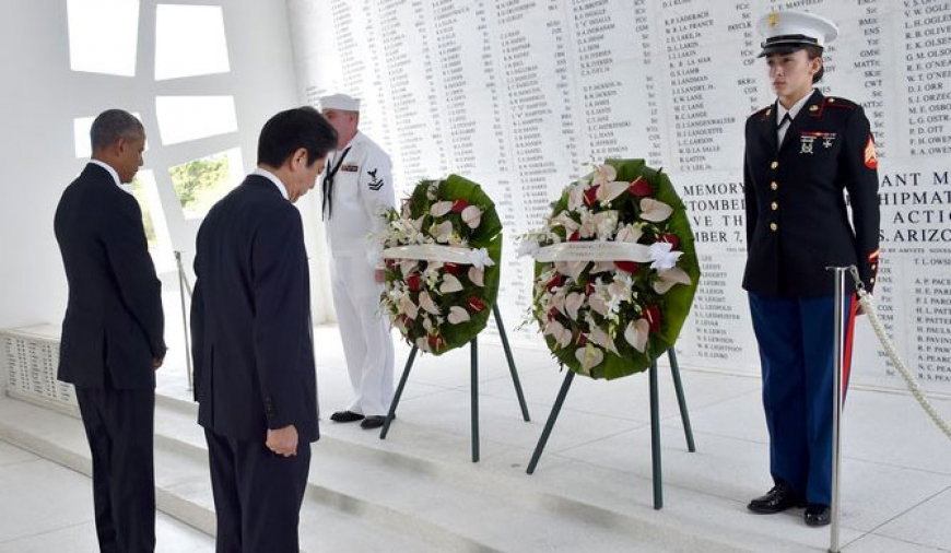 Japan PM visits Pearl Harbor
