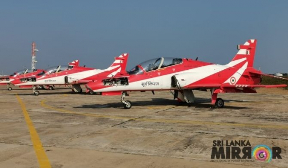 Indian aircrafts in Sri Lanka join air show
