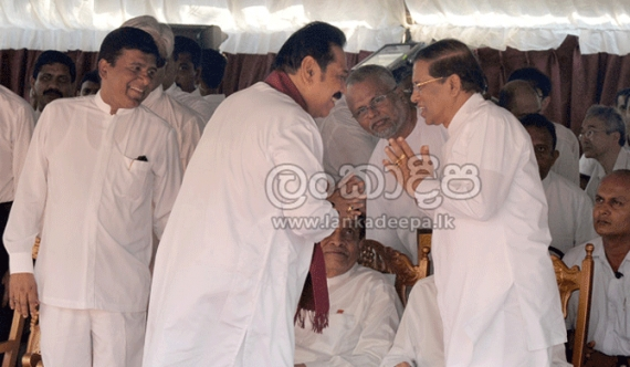 Maithri, Mahinda have rare meeting