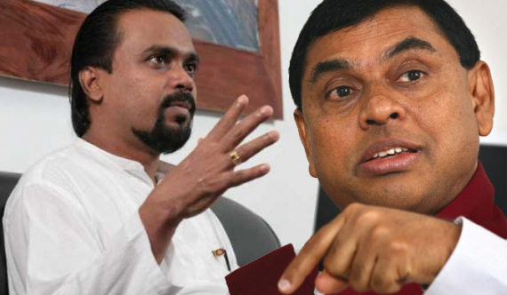 Basil shows the exit gate to Wimal