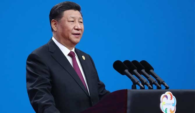 President Xi Jinping delivers a keynote speech at the opening ceremony of the Conference on Dialogue of Asian Civilizations (CDAC) at the China National Convention Center in Beijing, capital of China, May 15, 2019. [Photo/Xinhua]