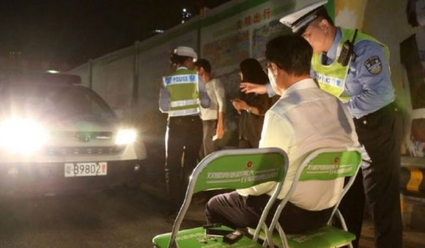 China full-beam drivers punished by dazzling