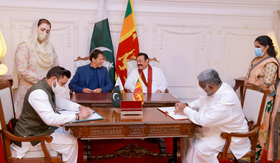 Pakistan - Sri Lanka sign 5 MoUs