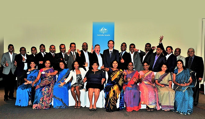 Group - First Secretary (Development), Australian High Commission Dr Thomas Davis and Professor Noel Scott, Griffith University, with participants in the Australia Awards Sustainable Tourism Short Course.