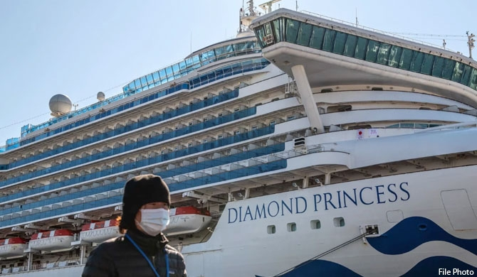 2 Lankans onboard Diamond Princess, safe