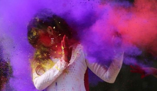 India female students take on 'Holi harassment'