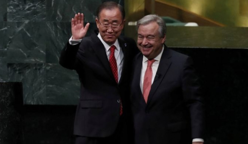 UN's new secretary-general sworn in