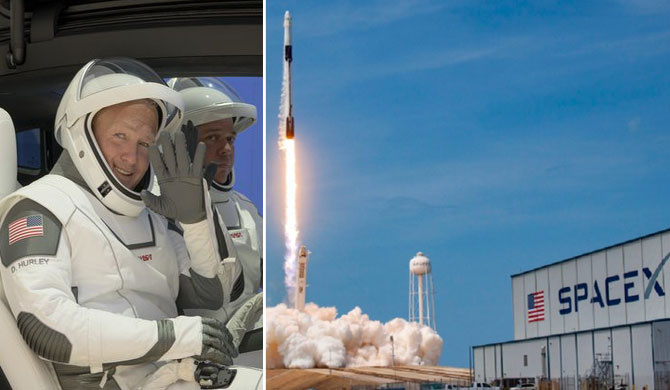 Private rocket takes astronauts to ISS