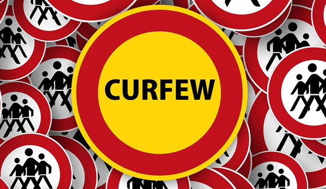 Islandwide curfew only between 10pm-4am from Tuesday