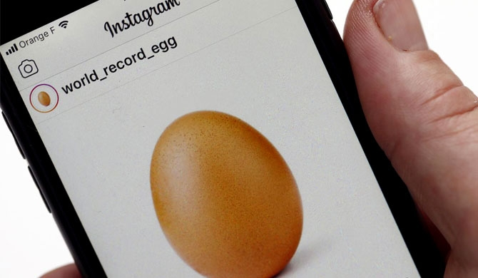 The egg that dethroned Kylie Jenner