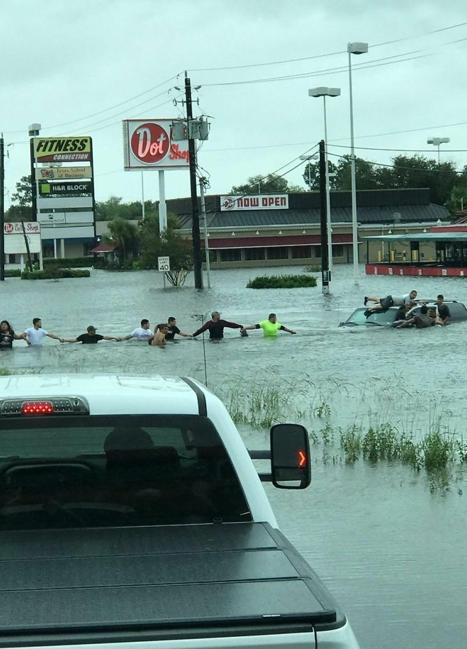 Humanity survives Harvey's wrath