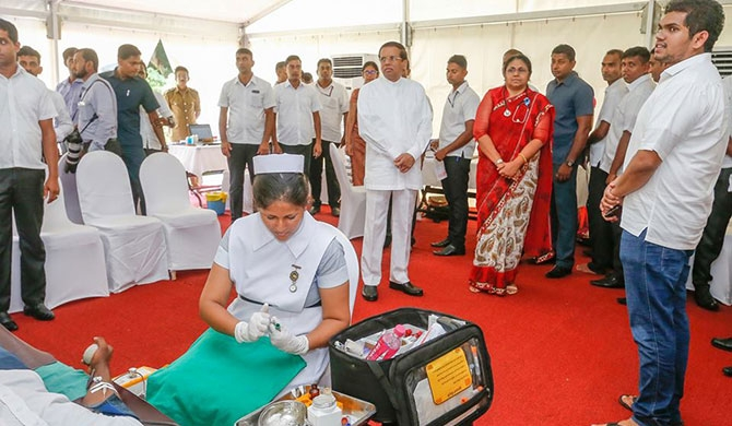 Blood donation campaign at President's House (Pics)