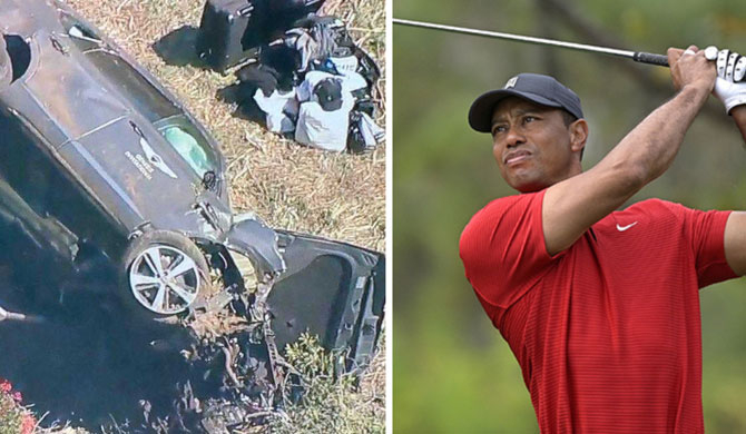 Tiger Woods undergoing surgery after car crash (Video)