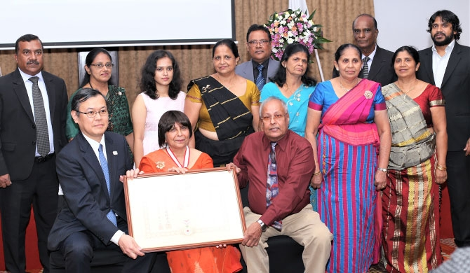 Japan felicitates Prof. Kamala Liyanage
