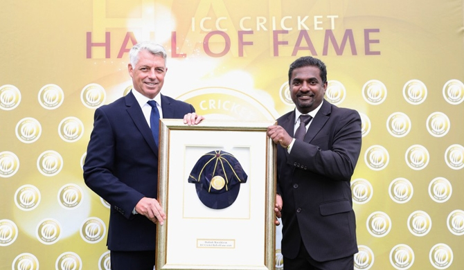 Murali inducted to ICC Hall of Fame (Video)