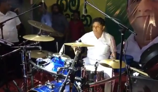 Sajith keeps up the beat! (Video)