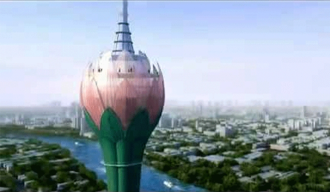 Lotus tower stands out Colombo sky line in March next year