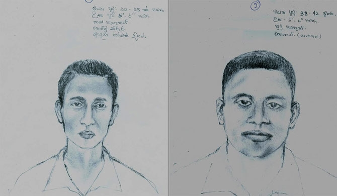 Sketches of shooting suspects released