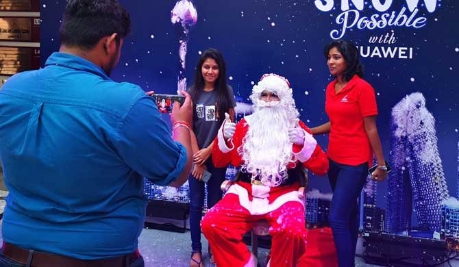 HUAWEI grants ultimate wish for snow in Colombo