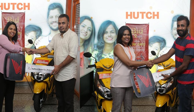 HUTCH BID2WIN winners get Honda Scooty motorcycles